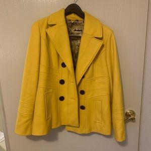 Yellow Wool Guess Brand Peacoat